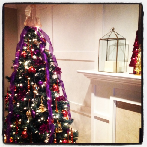 Purple, Red and Gold Christmas Tree